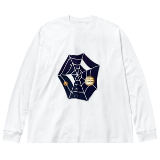 Spider☆Planets Big silhouette long sleeve T-shirts