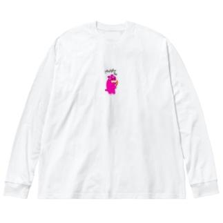 カバ moyasuzo Big silhouette long sleeve T-shirts