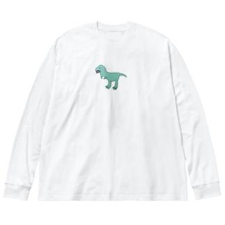 きょうりゅうくん🦖 Big silhouette long sleeve T-shirts