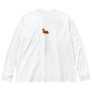 Elegant Cat ② Big silhouette long sleeve T-shirts