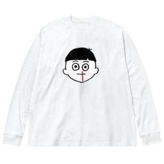 ノンタイトルぼっちゃん Big silhouette long sleeve T-shirts