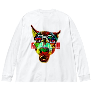 Growl!! Big silhouette long sleeve T-shirts