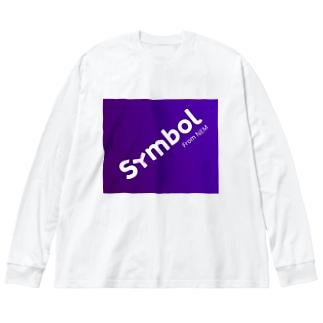 symbol斜め Big silhouette long sleeve T-shirts