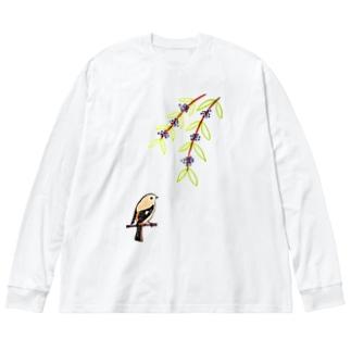 ジョビ子とコムラサキ Big silhouette long sleeve T-shirts