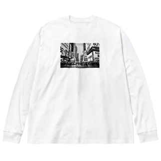 OBEY(Street Scene) Big silhouette long sleeve T-shirts
