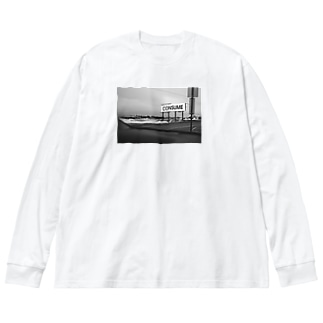 CONSUME(消費せよ) Big silhouette long sleeve T-shirts