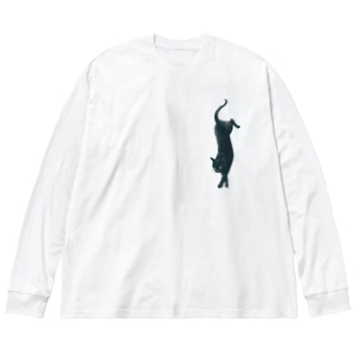 フォールキャット A Big silhouette long sleeve T-shirts