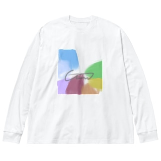 にじいろ Big silhouette long sleeve T-shirts