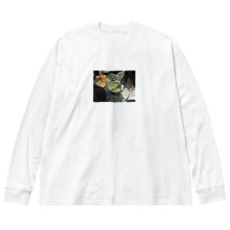 幹事長のもつ鍋 Big silhouette long sleeve T-shirts