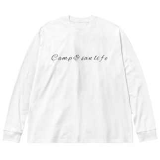 Camp & van life7 Big silhouette long sleeve T-shirts