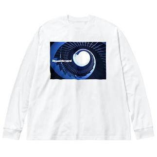 らせん階段 Big silhouette long sleeve T-shirts