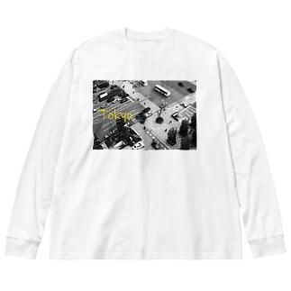 東京 Big silhouette long sleeve T-shirts