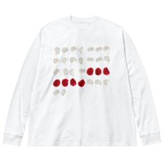 バラ色の日々 Tシャツ Big silhouette long sleeve T-shirts