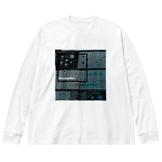 brain Repetition Big silhouette long sleeve T-shirts