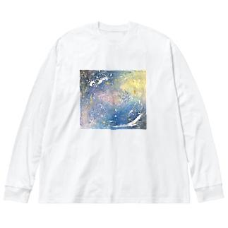 kono hoshi no sora Big silhouette long sleeve T-shirts