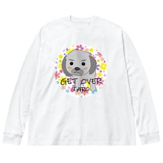 タロちゃん Big silhouette long sleeve T-shirts