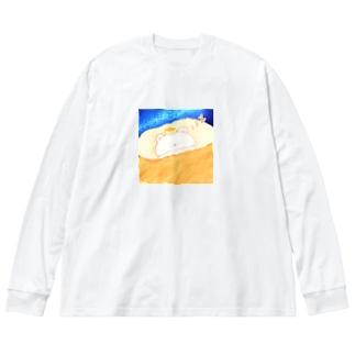 どるちぇ*うさぎの《イラスト10》*ゆめみるしろくま* Big silhouette long sleeve T-shirts