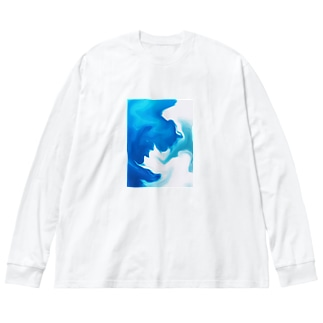 秋の空 Big silhouette long sleeve T-shirts