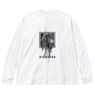 凸レーション(mono) Big silhouette long sleeve T-shirts