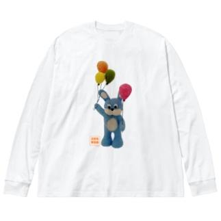 あのころのウサギ Big silhouette long sleeve T-shirts