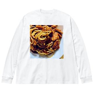 ナポリタン Big silhouette long sleeve T-shirts
