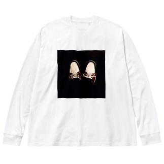 shoes Big silhouette long sleeve T-shirts