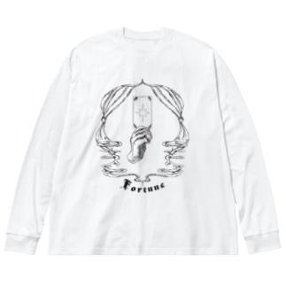 Fortune tarot 【黒】 Big silhouette long sleeve T-shirts