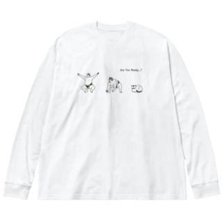 準備が出来た力士 Big silhouette long sleeve T-shirts