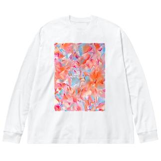 Goldfish Big silhouette long sleeve T-shirts