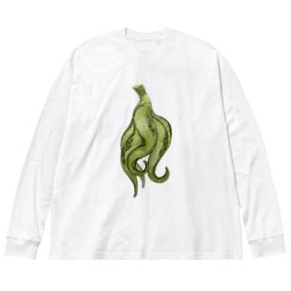 魑魅魍魎グッズ。 Big silhouette long sleeve T-shirts