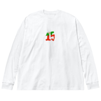 15ちゃん🍓 Big silhouette long sleeve T-shirts