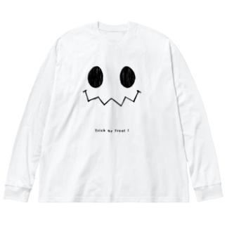 ハロウィンスマイル Big silhouette long sleeve T-shirts