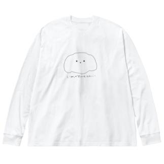 まけたいぬ Big silhouette long sleeve T-shirts