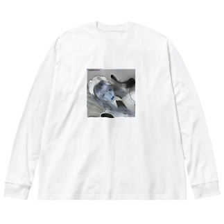 真・bug maid Big silhouette long sleeve T-shirts