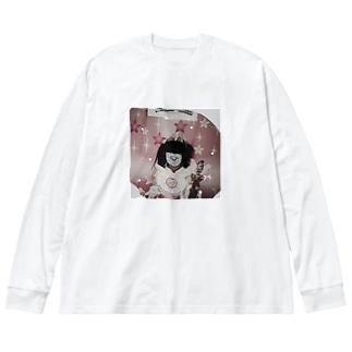 まほうしょうじょ終焉 Big silhouette long sleeve T-shirts