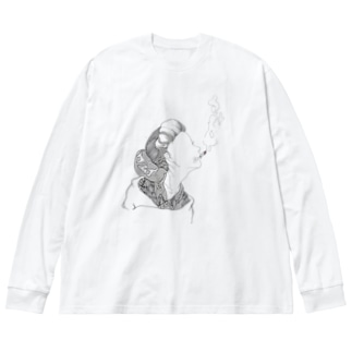 ケムイかしら? Big silhouette long sleeve T-shirts