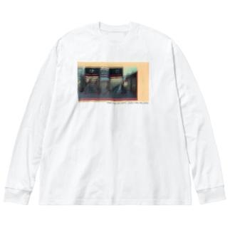 chill 京都駅 メッセージ付き Big silhouette long sleeve T-shirts