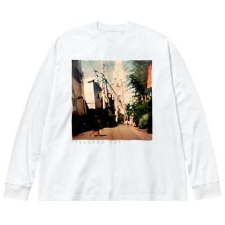 ITSUKANO CAT. Big silhouette long sleeve T-shirts