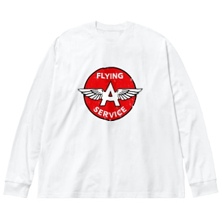 FLYING A SERVICE Big silhouette long sleeve T-shirts