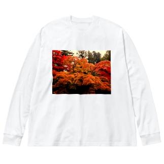 紅葉 Big silhouette long sleeve T-shirts