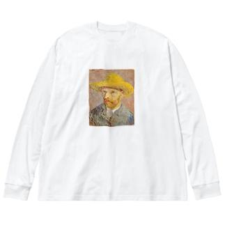 自画像 Big silhouette long sleeve T-shirts