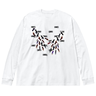 HANDS Big silhouette long sleeve T-shirts