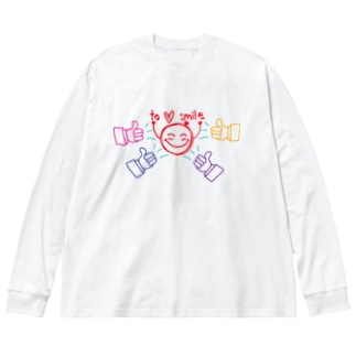 to ♥ smile Big silhouette long sleeve T-shirts