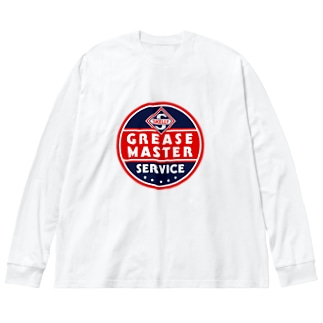 SKELLY Grease Master Service Big silhouette long sleeve T-shirts