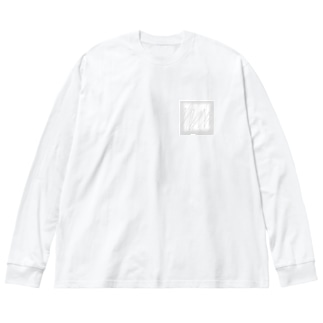 白い窓 Big silhouette long sleeve T-shirts