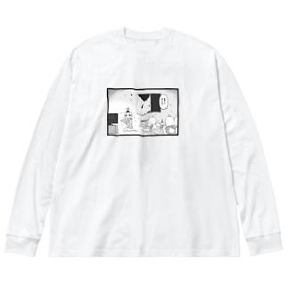 無知は救い Big silhouette long sleeve T-shirts