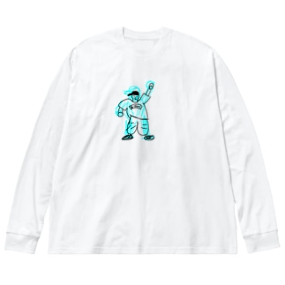 気合のB-BOY Big silhouette long sleeve T-shirts