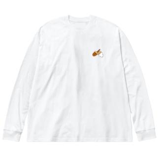 どんぐり Big silhouette long sleeve T-shirts