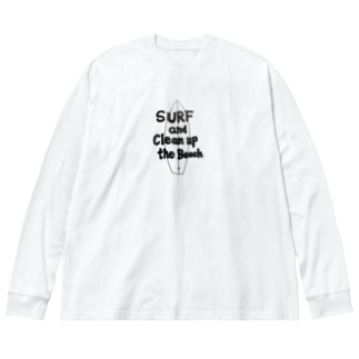 チャリティー【SURF】 Big silhouette long sleeve T-shirts