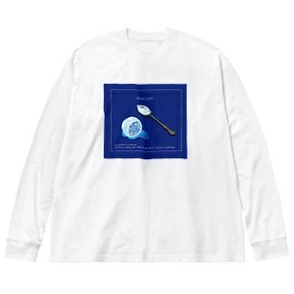 The moon on a rainy night Big silhouette long sleeve T-shirts